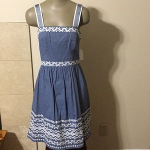 Jessica Simpson Embroidered Denim Dress